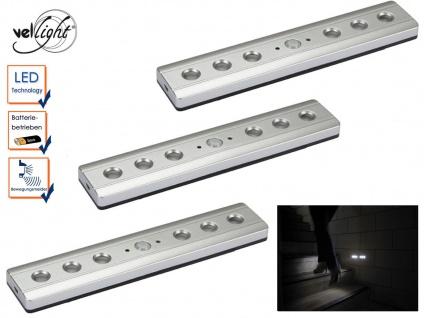 3er Set LED Lichtleisten mit PIR Sensor, Orientierungslicht Treppenleuchten