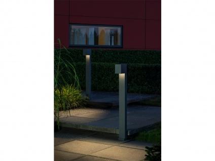 100cm hohe LED Gehwegleuchte aus ALU in anthrazit Lichtstrahl 0°-90° einstellbar - Vorschau 4