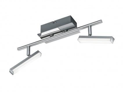 Klassischer LED Deckenstrahler Nickel matt 2 Spots schwenkbar - Wohnraumleuchten