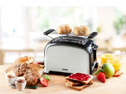 Design Toaster mit Brötchenaufsatz, Toster für knuspriges Brot - Crunchyfunktion