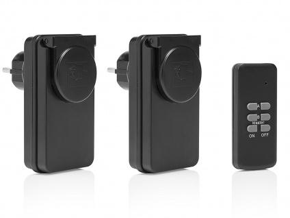 Outdoor Funksteckdosen Set mit Fernbedienung Starter-Kit HomeWizard kompatibel