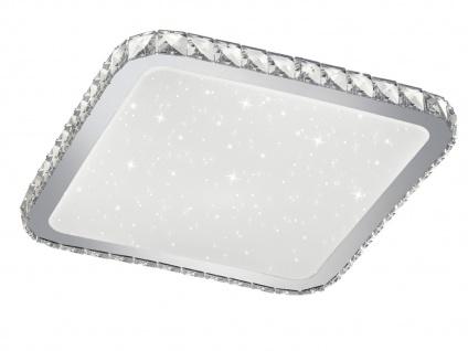 Eckige LED Deckenleuchte mit Fernbedienung Dimmer Farbwechsel & Starlight Effekt