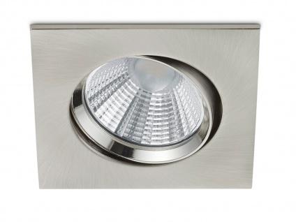 LED Einbaustrahler Decke eckig schwenkbar dimmbar Nickel matt 5, 5W Deckenlampen