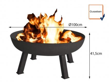Große Gusseisen Feuerschale 100cm offene Feuerstelle im GartenFEUERSTELLE außen