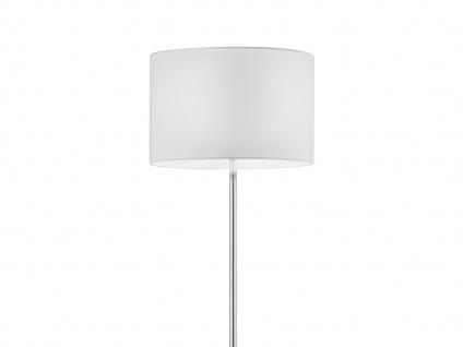 Design Stehleuchte mit rundem Stoffschirm in Weiß - Standlampen fürs Wohnzimmer - Vorschau 3