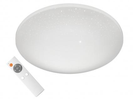 Dimmbare LED Deckenlampe rund Ø 40cm mit Farbwechsel Fernbedienung Sternenhimmel