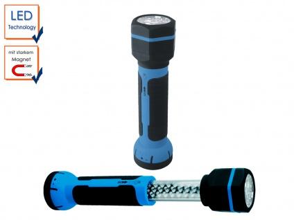 LED Taschenlampe mit Magnet, Akku, Stablampe, Arbeitsleuchte, Werkstattleuchte