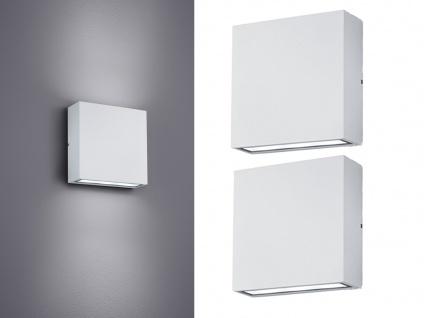 LED Wandleuchte 2er Set für Außen & Innen weiß UP/DOWN - Fassadenbeleuchtung