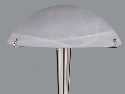 Trio Tischlampe -Touch me-, E14, Höhe 38cm, Nickel, Glas alabaster - Vorschau 2