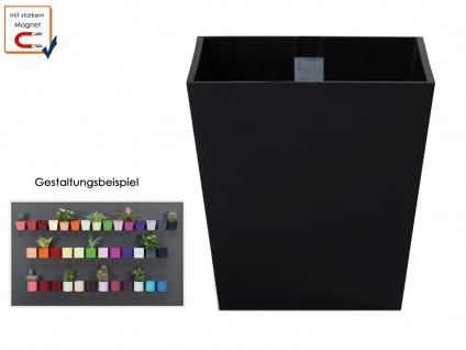 Kunststofftopf mit Magnet Ø 6 cm Schwarz, Wandaufbewahrung Deko, KalaMitica