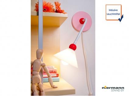 LED Wand-Leseleuchte biegsames Flexrohr Schnurschalter PRINZESSIN Baby Wandlampe