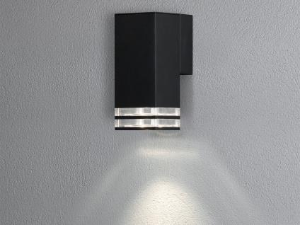ALU Wandlampe für Außen & Innen Down Light IP44 Schwarz 19cm Fassadenbeleuchtung