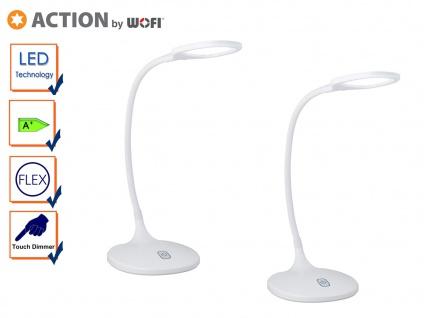 2er Set LED Schreibtischleuchte, Flexarm, Dimmer, Tischlampe LED Tischleuchte
