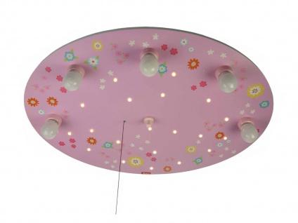 LED Kinder Deckenleuchte mit 5 LED Sternenhimmel Zugschalter für Schlummerlicht - Vorschau 5