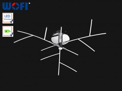 9-flamm. LED Deckenleuchte Chrom poliert, Zweige, Wofi-Leuchten