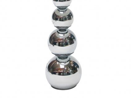 2er SET DEKO Tischleuchte mit Touch dimmbar Stoffschirm Schwarz, Nachttischlampe - Vorschau 3