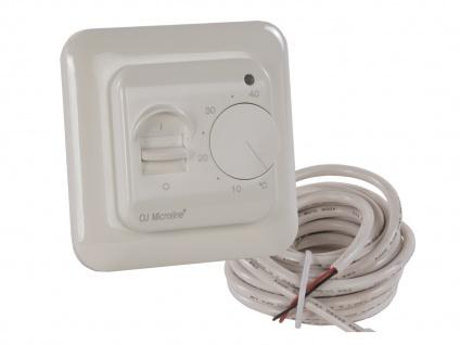 Thermostat weiß für Heizpaneele, mit Nachtabsenkung und Schalter