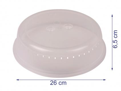 Mikrowellen Abdeckhaube, Durchmesser 26 cm Deckel Abeckung