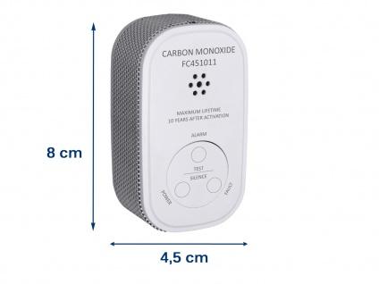 Kohlenmonoxid-Melder 10 Jahres Batterie & 10-Jahres Sensor Gasmelder CO-Melder - Vorschau 3