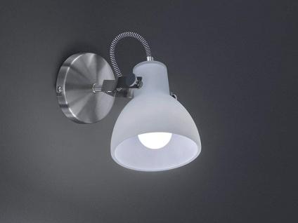 1 fl. LED Wandstrahler dreh-und schwenkbar in Nickel matt mit Glasschirm in weiß