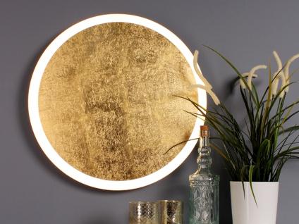 Angesagte LED Innenlampe für Wand und Decke mit Blattgoldoptik Design rund 50cm