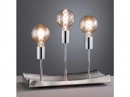 Retro Tischlampe 3flammig mit LED, mehrflammige Design Wohnzimmertischleuchte