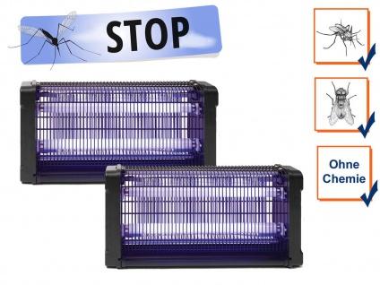 2er Set Insektenvernichter 360°, Stechmückenfalle mit UV Licht, Bereich je 100m²