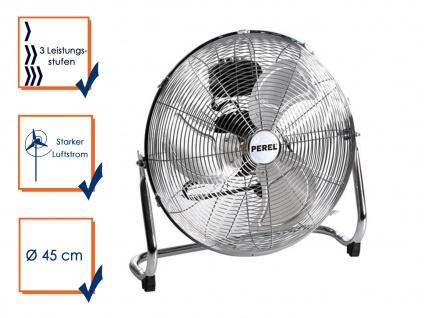 Velleman Bodenventilator Windmaschine Ventilator 3 Stufen 140W Ø 45cm