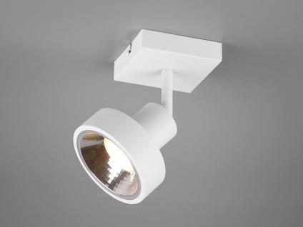 RETRO Wandstrahler in Weiß rund schwenkbare Deckenlampen für Flur und Diele