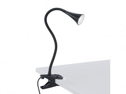 LED Klemmleuchte flexibel Schwanenhalslampe schwarz Schreibtischlampe Leselicht