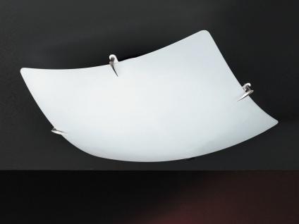 Moderne Deckenleuchte Ass, mattnickel, Glas weiß matt Honsel-Leuchten