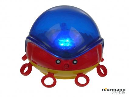 LED Nachtlicht OCTOPUS projiziert bunte Wellen im Kinderzimmer Abschaltautomatik