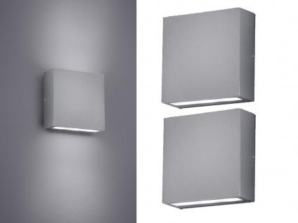 2x LED Wandleuchten für Außen Up and Down Außenbeleuchtung Außenleuchte Hauswand