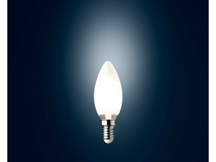 Filament LED Kerze in Weiß dimmbar E14 Leuchtmittel für Deckenleuchten 3 Watt