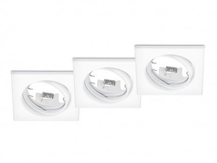 3 Stk. Einbaustrahler Decke eckig schwenkbar Weiß matt GU10 - Deckenbeleuchtung