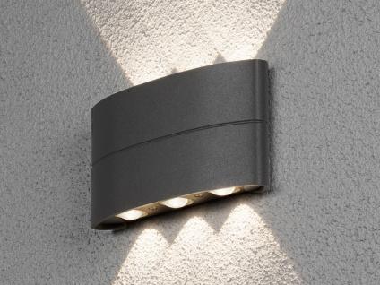 Flache Wandleuchten für Aussen Up and down Anthrazit 6W LED Terrassenbeleuchtung