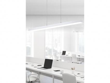 Extra lange LED Balken Pendelleuchten Bürolampe hängend Touch Dimmer in Weiß