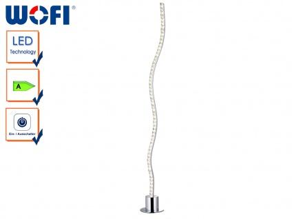 LED Stehleuchte wellenförmig in Chrom & Acryl, Höhe 95cm, Standlampe Stehlampe