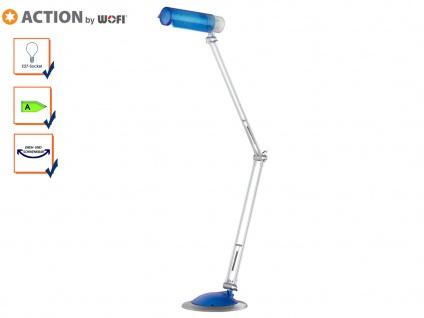 Tischlampe / Schreibtischlampe Blau, 3x schwenkbar, Action by Wofi