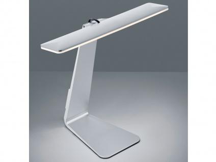 LED Schreibtischlampe HEROLD in Silber Akku Betrieb & USB Anschluß Touch Dimmer