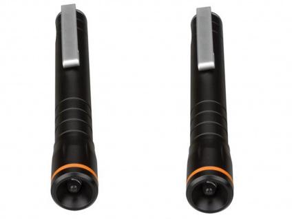 2Stk. Taschenlampen mit Befestigungsclip, LED Penlight für Beruf Freizeit Hobby - Vorschau 3