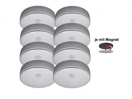 8er SET Rauchmelder 10 Jahres Batterie, VdS & Q-Siegel mit EASY Magnethalterung - Vorschau 2