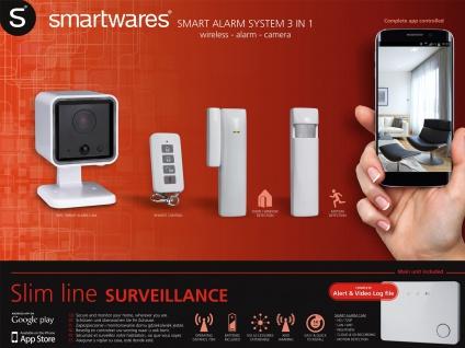3-in-1 Funk-Alarmsystem Überwachungssystem, Smartphone APP Hausalarmanlage