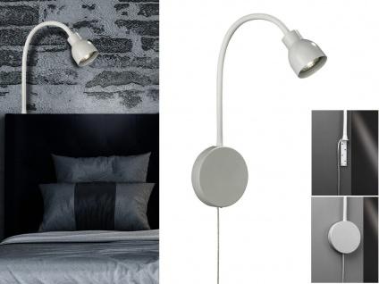 Leselampe & Bettleuchte weiß mit Schalter fürs Kopfteil Couch Bett & Wandmontage