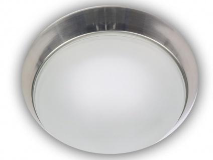 Deckenleuchte, Glas satiniert / Nickel matt, Ø 40cm, Niermann-Standby