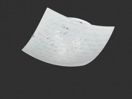 Deckenleuchte dimmbar 50x50cm Glas Lampenschirm in weiß mit modischem Dekor E27 - Vorschau 2