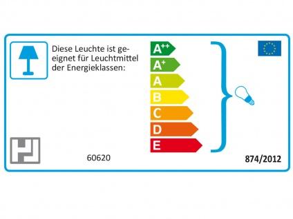 LED Pendelleuchte dimmbar, Stoffschirm oval weiß Dekor, E27 Pendel Esstischlampe - Vorschau 4