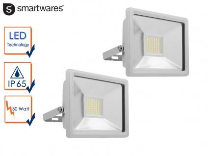 2 30W Strahler Baustrahler LED neutralweiß Scheinwerfer Arbeitsleuchte Fluter
