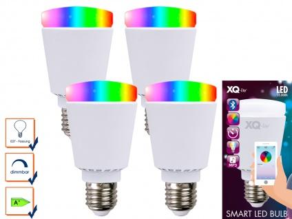 4er-Smart LED Bulb Glühbirne Bluetooth Farbwechsel Stimmungslicht App-Steuerung