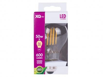 FILAMENT-LED E27, 6 Watt, 600 Lumen, 2700 Kelvin, warmweiß Leuchtmittel - Vorschau 3